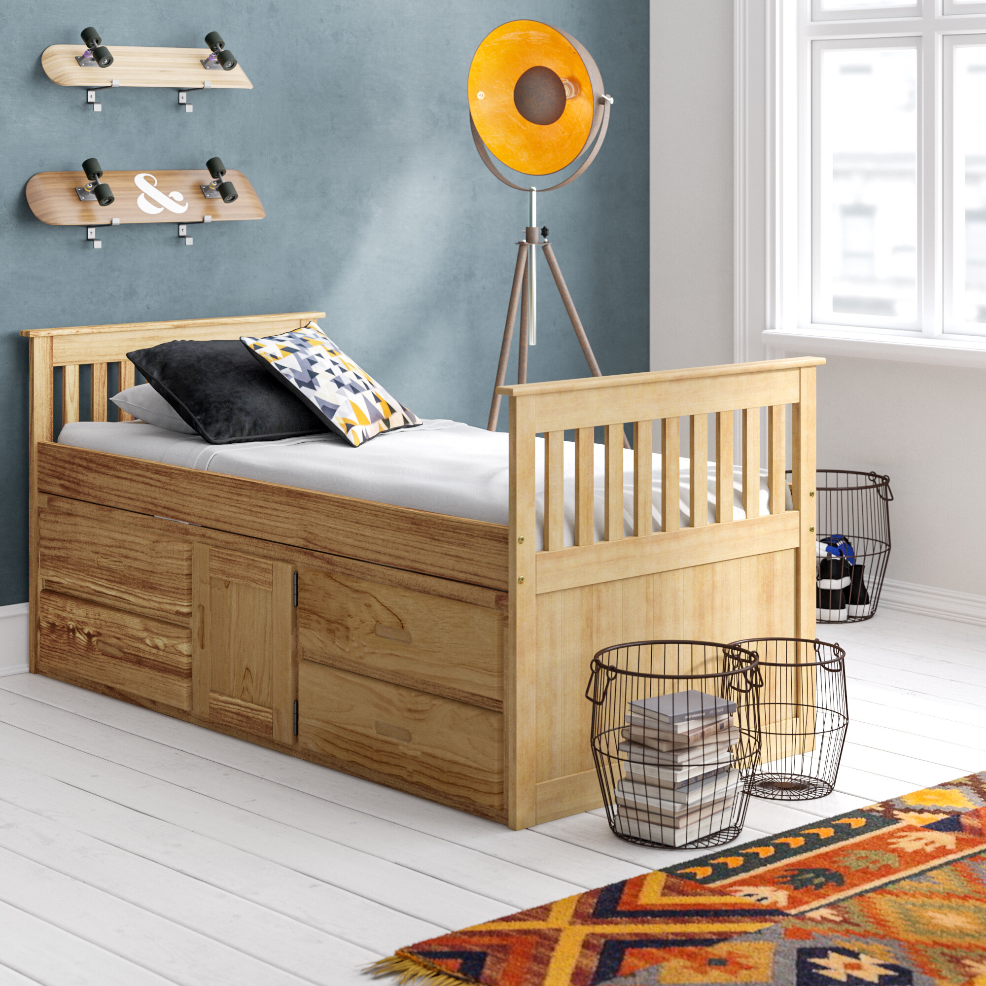 Just Kids Captain Single Bed Frame With