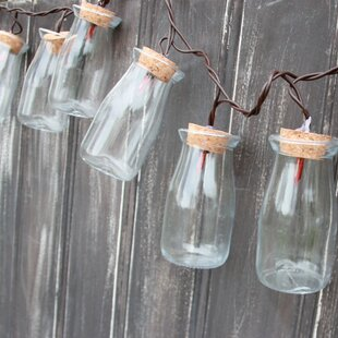DEI 10-Light 8.5 ft. Milk Bottle String Lights