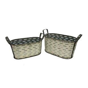 Compare & Buy Metal/Wire 2 Pieces Bucket Set (Set of 2) ByGracie Oaks