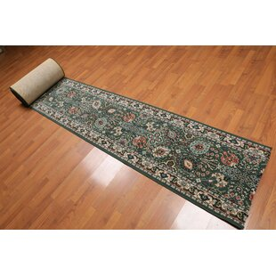 Sherry Traditional Wool Green/Beige/Rose Area Rug By Canora Grey