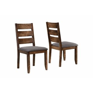 Upchurch Ladder Back Solid Wood Dining Chair (Set of 2) Millwood Pines