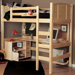 Sandisfield Twin Loft Bed With Media Cart by Zoomie Kids Read Reviews