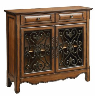 Abramowitz 2 Drawer 2 Door Accent Cabinet