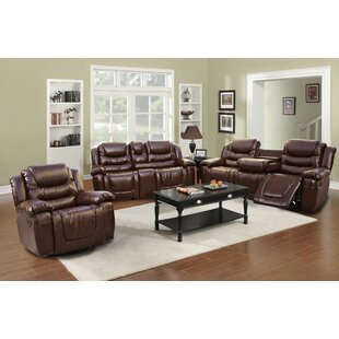 Compare Strobel Reclining 3 Piece Living Room Set by Red Barrel Studio Reviews (2019) & Buyer's Guide