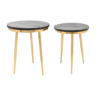 Mercer41 Sinatra 2 Piece End Table Set