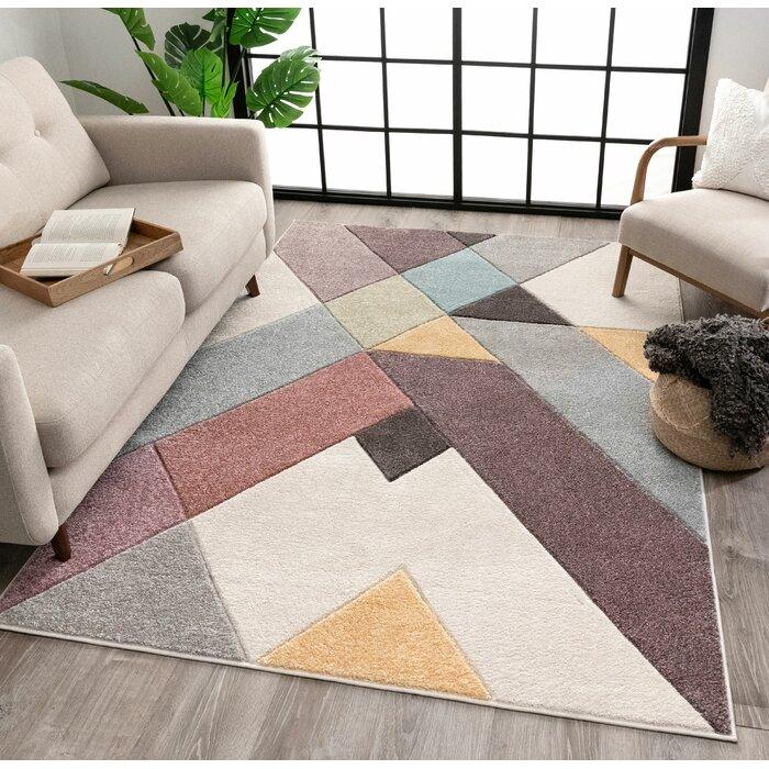 Well Woven Whoa Geometric Multicolor Area Rug Wayfair