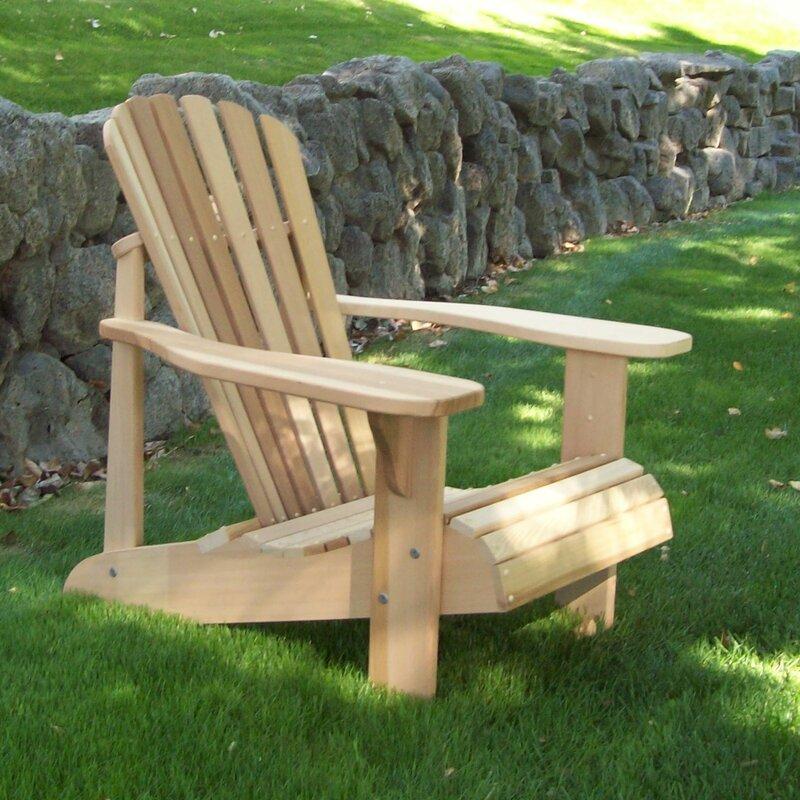 Elegant Tu0026L Solid Wood Adirondack Chair