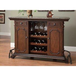 Erroll Wooden Bar with Wine Storage by Astoria Grand