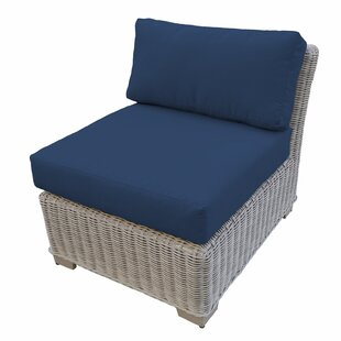 TK Classics Coast Armless Patio Chair wit..