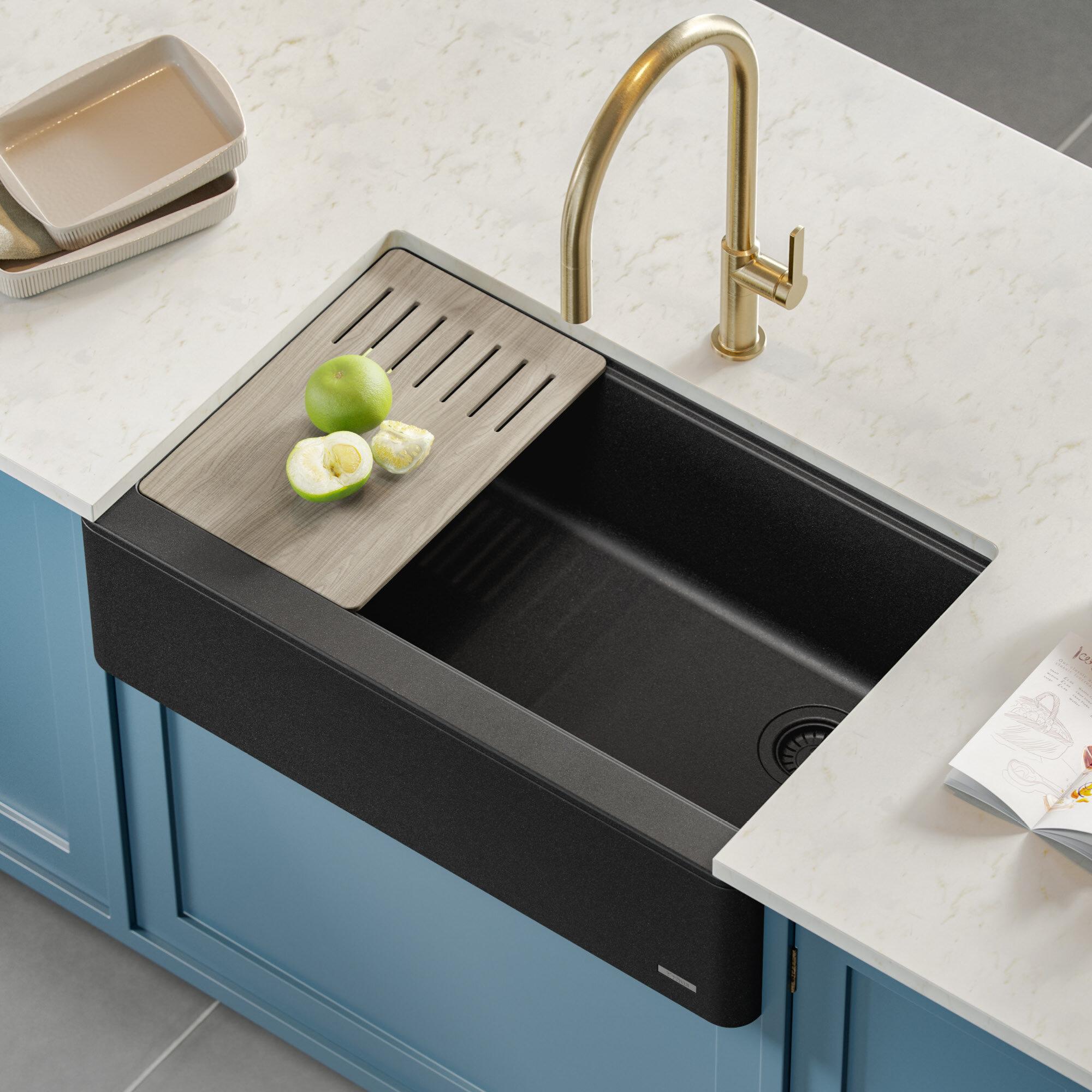 Kraus Bellucci Workstation 30 L X 21 W Farmhouse Kitchen Sink Reviews Wayfair