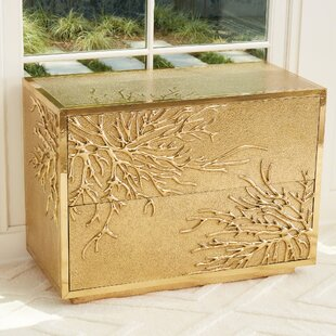 Bargain Flower Burst 2 Drawer Accent Chest By Global Views