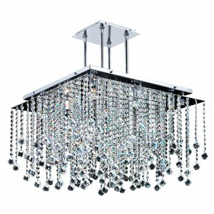 Cohen-Arazi Square 9-Light Crystal Chandelier by Everly Quinn