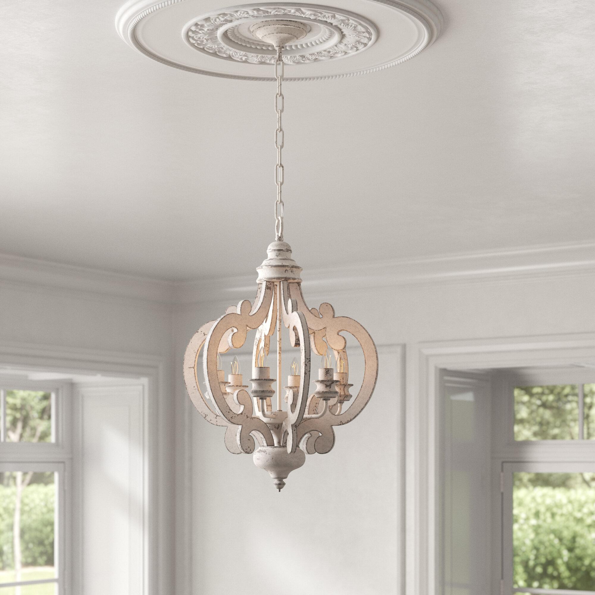 Kelly Clarkson Home Jarman 6 Light Candle Style Geometric Chandelier Reviews Wayfair