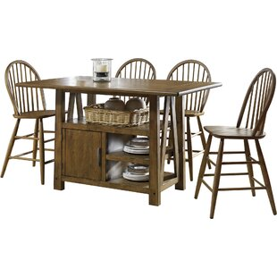 Farmhouse 5 Piece Counter Height Dining Set