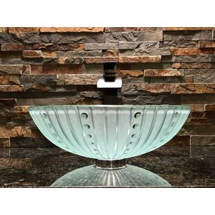 Order Nova Glass Circular Vessel Bathroom Sink By Elegant Glass Engraving Studio