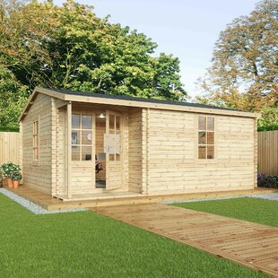 Home Office Executive 20 X 16 Ft. Log Cabin By Sol 72 Outdoor