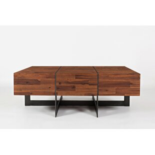 Cece Transitional Wooden Floating Coffee Table