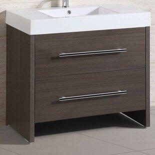 "Belvedere Bath 36"" Single Modern Bathroom Vanity Set"