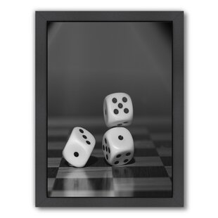 'Cube Dice Hobby Game' Framed Photographic Print ByEast Urban Home