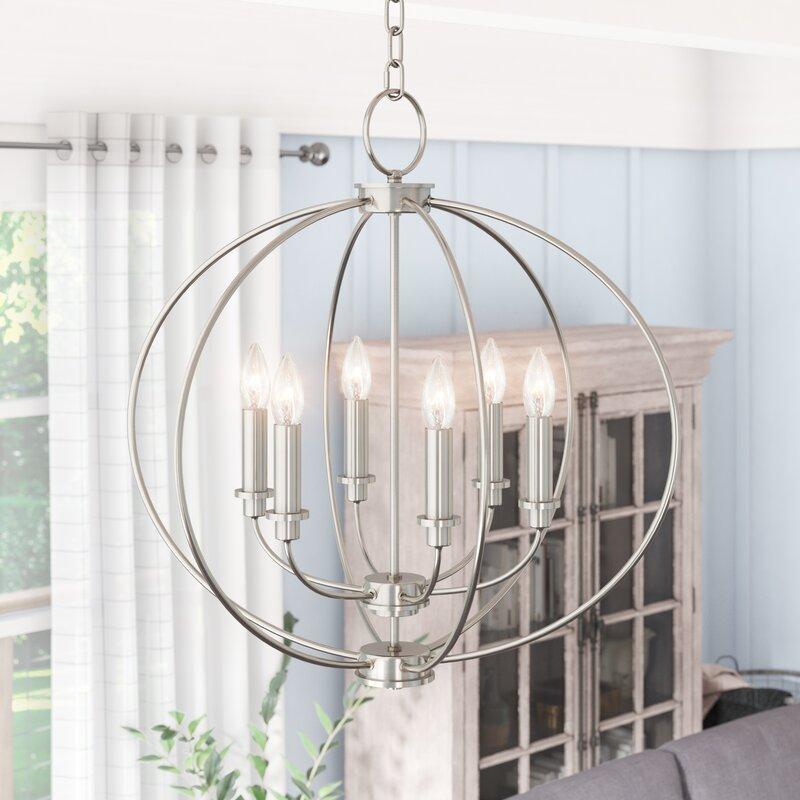Naomie 6 Light Candle Style Globe