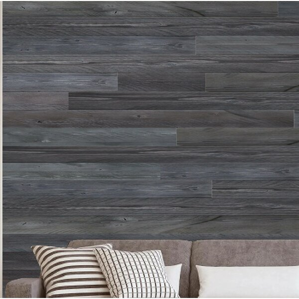 Porpora 5 X 47 Reclaimed Peel And Stick Solid Wood Wall Paneling In Gray Wayfair