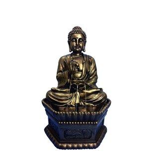 Hi-Line Gift Ltd. Resin Buddha Sitting Fountain