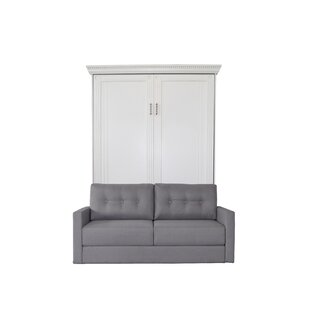 Rosecliff Heights Cedarville Queen Upholstered Murphy Bed with Sofa