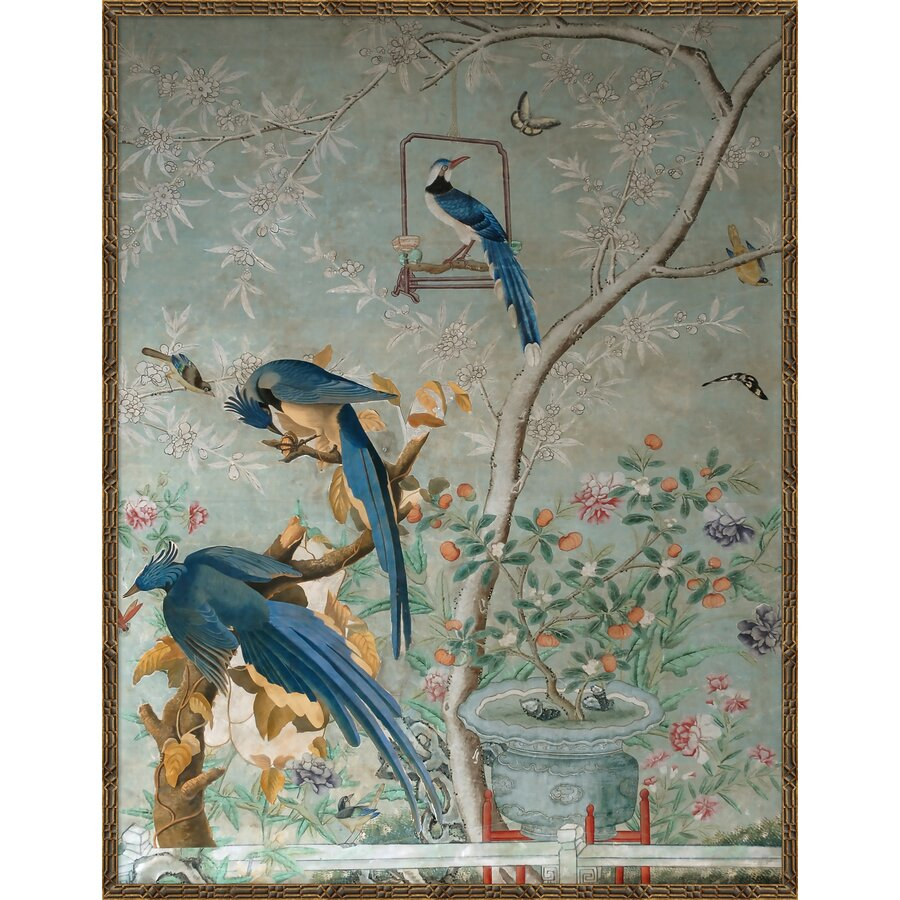 Chinoiserie Collage - Picture Frame Painting Print on Paper