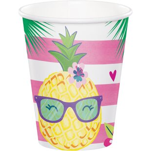Pineapple Paper Disposable Cup (Set of 24)
