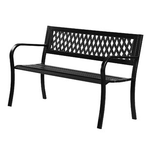 Minsky Lattice Steel Bench By Sol 72 Outdoor