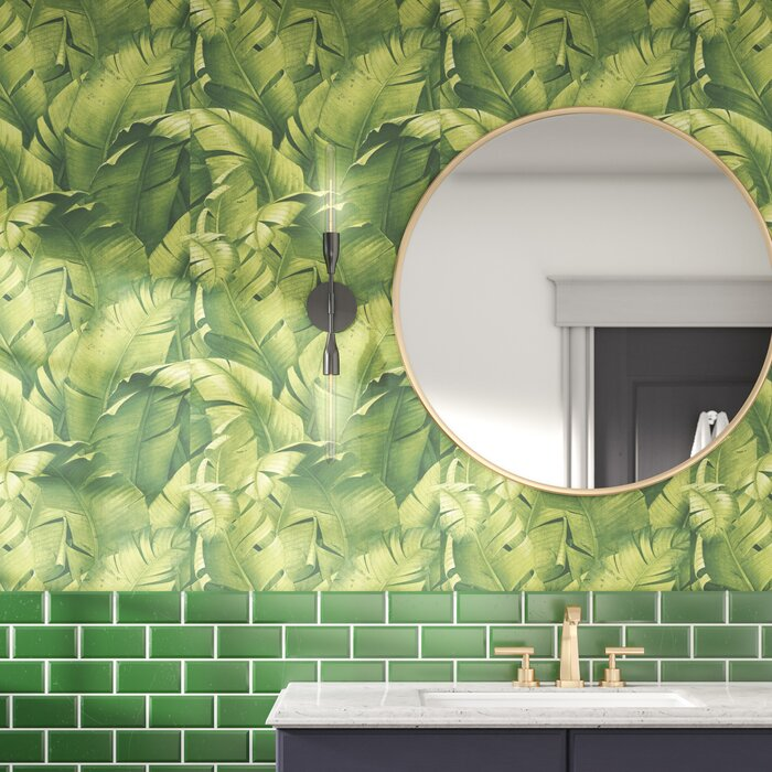 Stubbs Tropical Banana Leaf 18 L X 20 5 W Peel And Stick Wallpaper Roll
