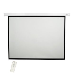 Matte White 100 diagonal Electric Projection Screen by Loch