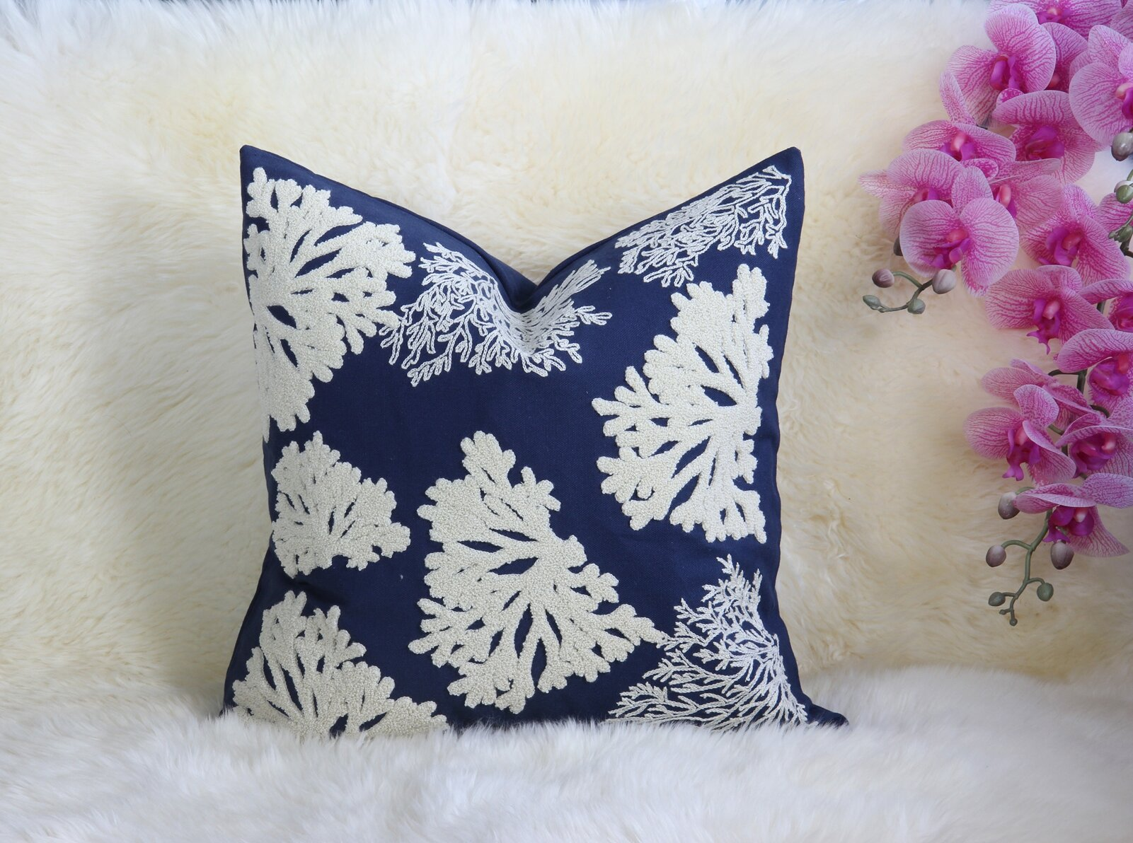 Bay Isle Home Hare Embroidered Cotton Throw Pillow Cover Reviews Wayfair