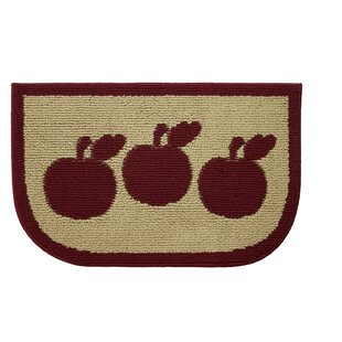 Textured Loop Apple Turnover Wedge Slice Kitchen Area Rug by Structures
