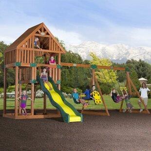 Backyard Discovery Quest Cedar All Cedar Swing set