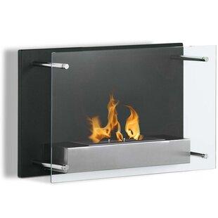 Skandar Ventless Wall Mounted Bio-Ethanol Fireplace by Orren Ellis