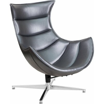 Outstanding Wheatley Leather Lounge Chair Orren Ellis Seat Color Gray Gmtry Best Dining Table And Chair Ideas Images Gmtryco