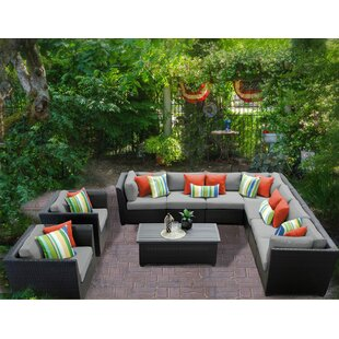 Camak 10 Piece Sectional Seating Group with Cushions