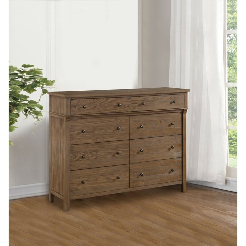 Canora Grey Starla Transitional Wood 8 Drawers Double Dresser