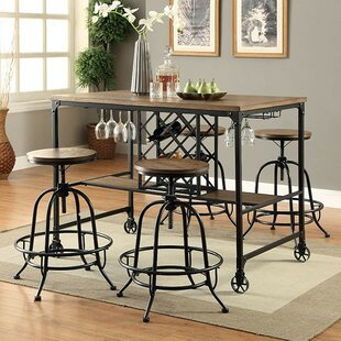 Dupuy 5 Piece Pub Table Set