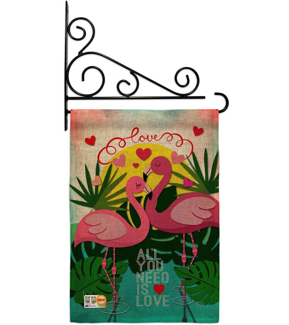 Breeze Decor Flamingo Lover 2 Sided Burlap 19 X 13 In Garden Flag Wayfair