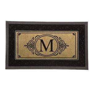 Driscoll Monogram Decorative Insert Doormat