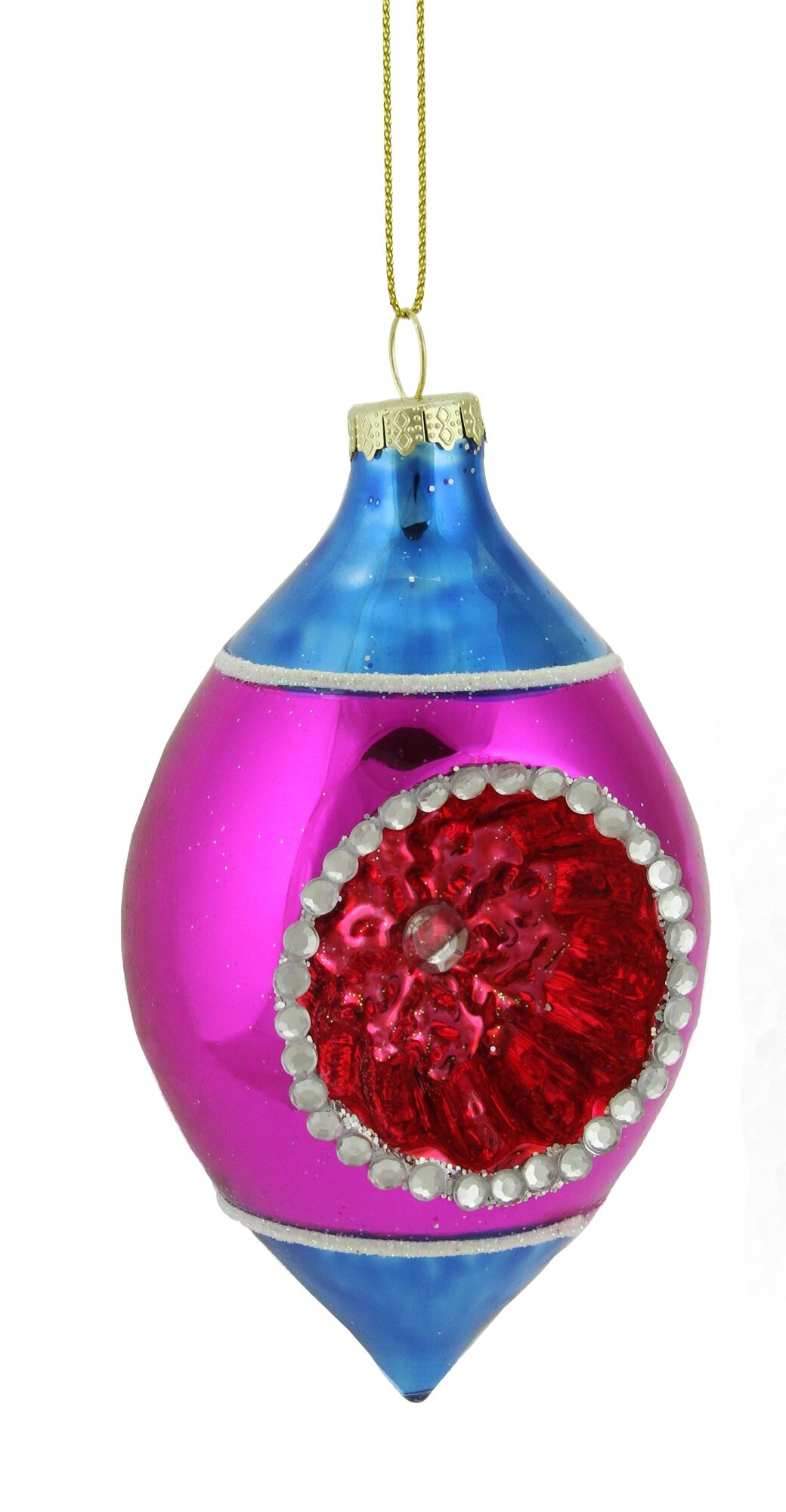 Festive Productions 6 Pack Red Teardrop Bauble Decoration Shiny//Matt//Glitter