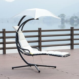 Rosa Hanging Chaise Lounger with Stand