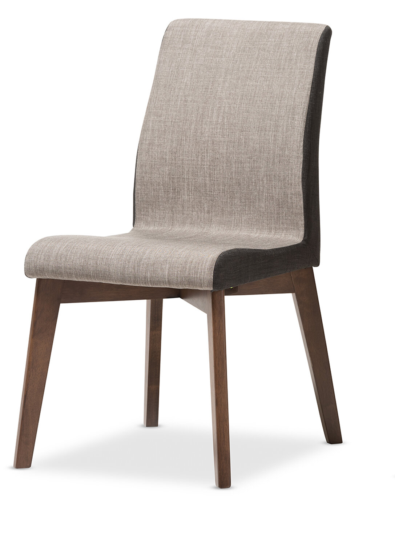 Whole Interiors Baxton Studio Mona Mid Century Modern Fabric Side Chair Wayfair