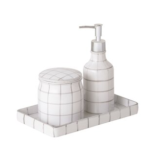 Zebediah 3 Piece Bathroom Accessory Set ByEbern Designs