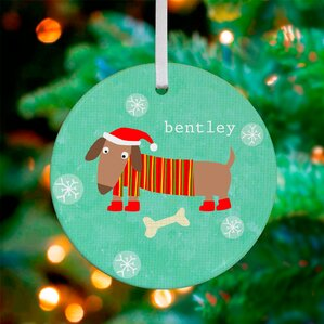 Animated Christmas Ornaments Ll Love Wayfair Dressed Dachshund Personalized Ornament
