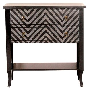 Online Reviews Heirloom Black/Grey Chevron 2 Drawer Accent Chest By Heather Ann Creations