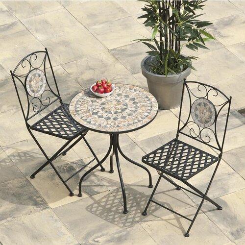 2-Sitzer Balkonset Algiers   Garten > Balkon   Schwarz/braun   Urban Designs
