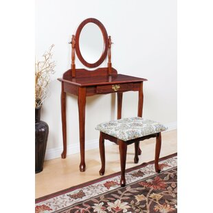 Astoria Grand Homerton Vanity Set with Mirror